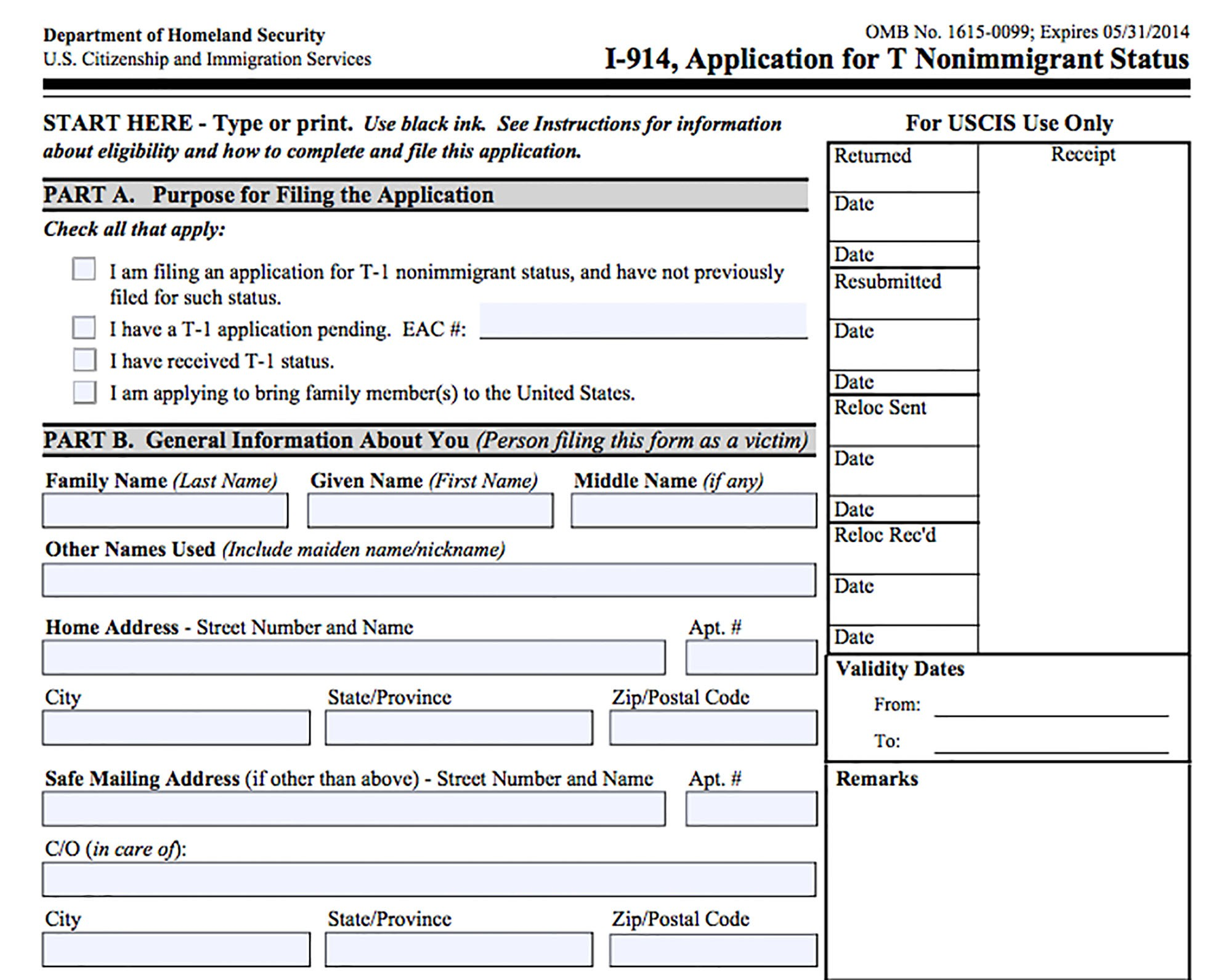 visa form application trafficking chronically victims underused known human documents
